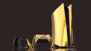 Pré-venda de PlayStation 5 folheado a ouro começa nesta quinta-feira