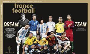 Seleção da Bola de Ouro tem Pelé, Ronaldo e Cafu