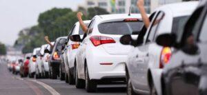 Motoristas de aplicativos vão realizar paralisação na segunda-feira (1)