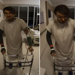 Com doença degenerativa rara, PC Siqueira reaprende a andar
