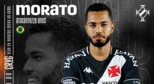 Vasco acerta a contratação por empréstimo do atacante Morato