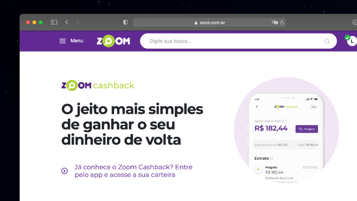 Zoom lança cashback para concorrer com demais plataformas
