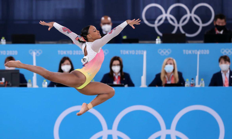 Read more about the article Tóquio: após ouro e prata, Rebeca Andrade fica em 5º lugar no solo
